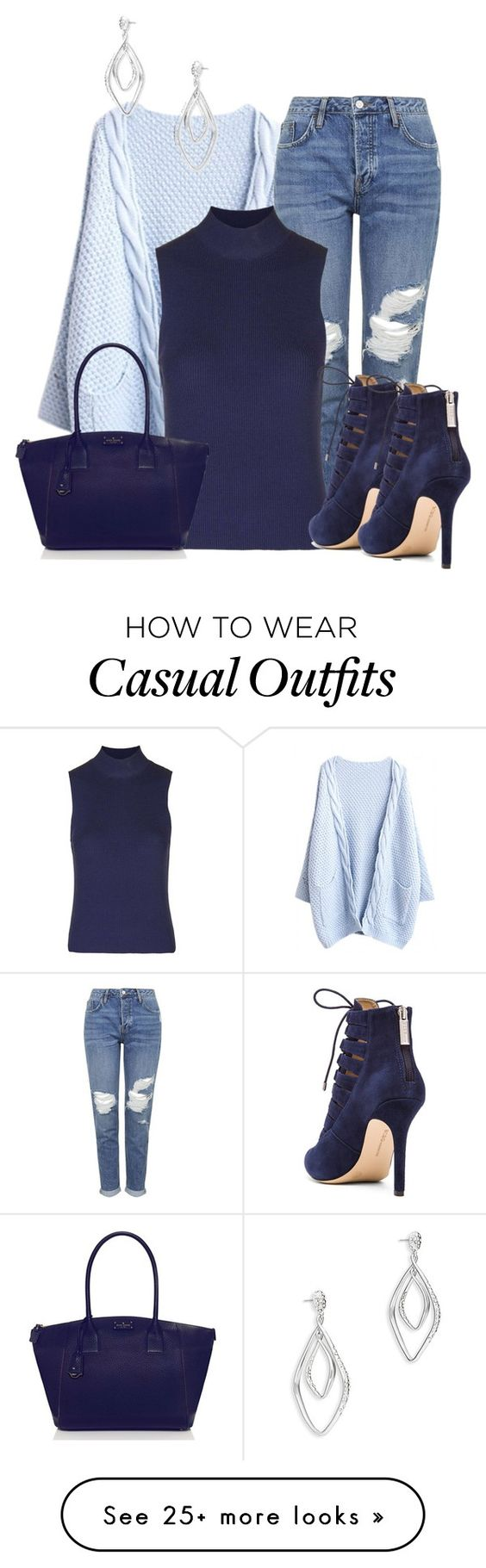 """Untitled #970"" by lchar on Polyvore featuring Topshop, Kate Spade, BCBGeneration and Alexis Bittar:"