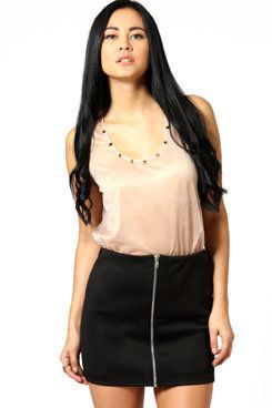 #boohoo                   #Skirt                    #Scuba #Front #Skirt      Abi Scuba Zip Front Skirt                           http://www.seapai.com/product.aspx?PID=425043