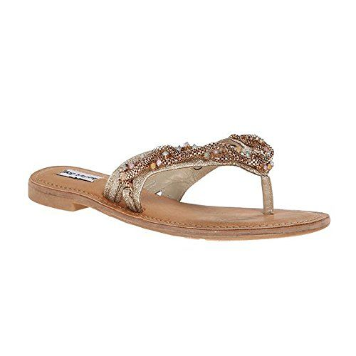 Not Rated Windansea Thong Sandals in Gold (7, Gold) Not Rated http: