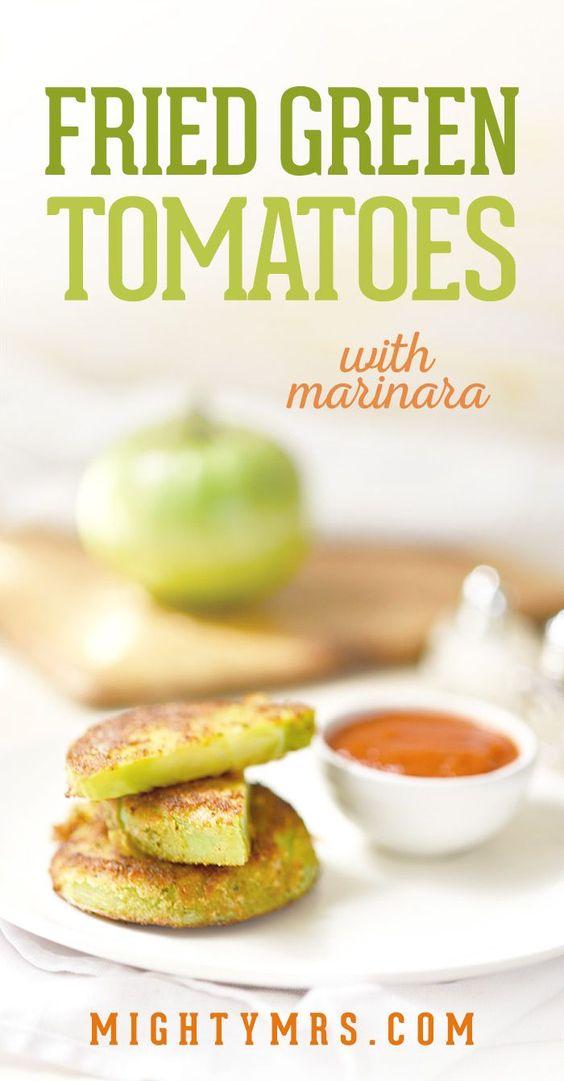 Fried Green Tomatoes with Marinara Sauce