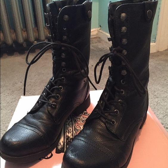 Crown Vintage Ninja Combat Boots Crown Vintage Ninja Combat Boots ...