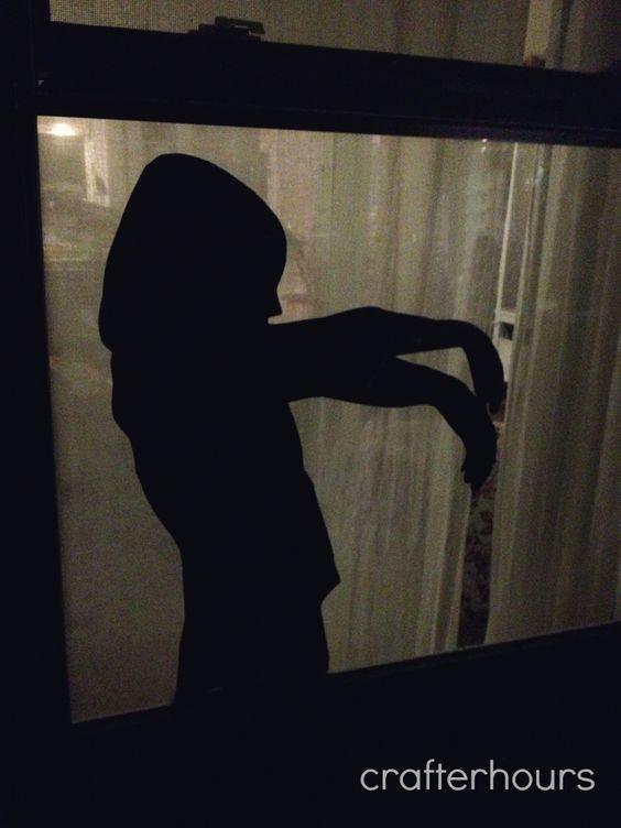 Warning Super Creepy Halloween Decor Kid, Halloween window and - halloween window decorations