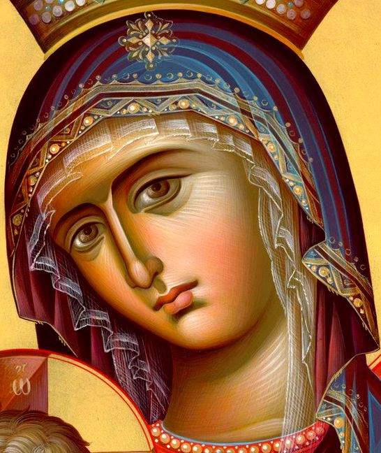 detail - icon of The MostHoly Mother of God