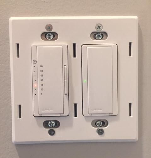 Light Replacement Lutron Timer Switch Bathroom Fan Lutron Timer