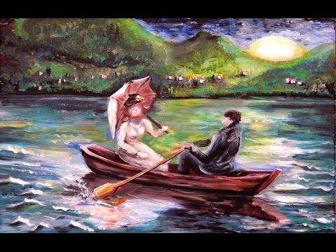 Cette Peinture Est Une Description Du Poème Le Lac De