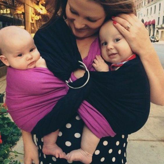 Tandem babywearing - Wearing two in ring slings!