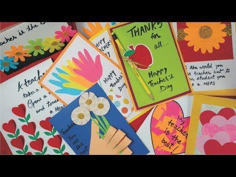 Diy Teacher S Day Card Handmade Teachers Day Card Making Idea Greeting Card For Teacher S Day Greeting Cards For Teachers Teachers Day Card Teacher Cards