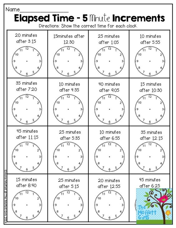 Elapsed Time- 5 Minute Increments. There are so many activities in ...