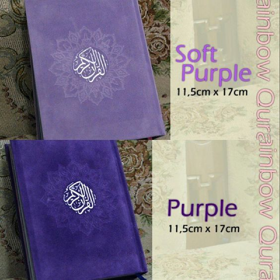 Al-Quran Rainbow 11,5X17cm avail Soft Purple, Purple @ 160 K GRAB IT FAST :D