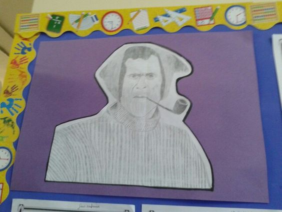 Yes, one of my 11 year old students sketched this picture of tom crean...from observation!!!: