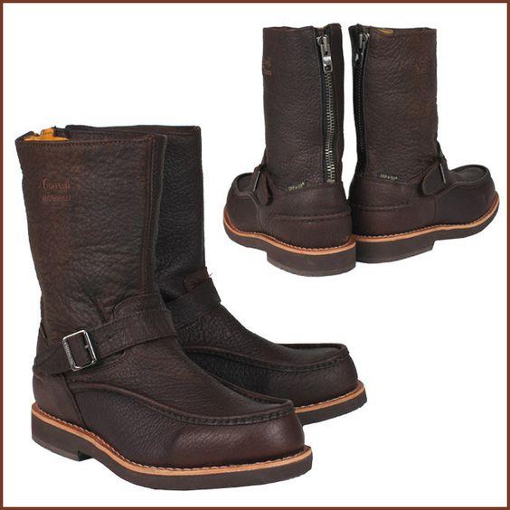 "Chippewa Men's 10"" Briar Bison Waterproof Mocc Toe Back Zip Up Work Boot 24948"
