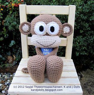 Amigurumi Crochet Patterns K And J Dolls : Huggy Monkey Crochet Pattern: New Pattern ~ Amigurumi ...
