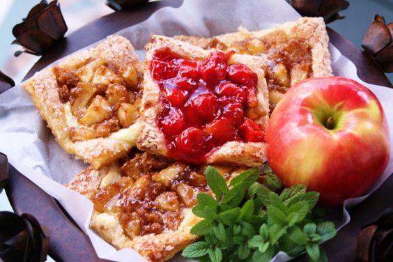 Menu Musings of a Modern American Mom: Apple and Cherry Danish Tarts