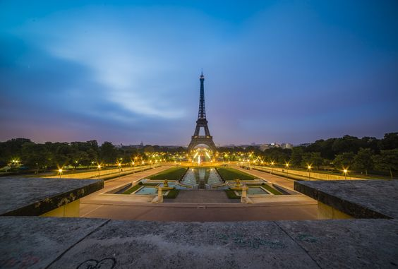 Eiffel Tower, Blue Hour by Benjamin Lefebvre on 500px
