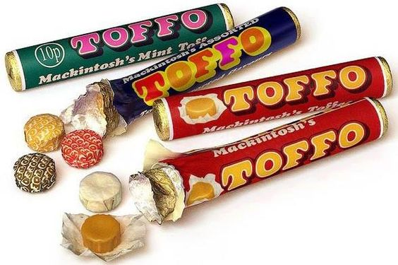 Retro sweets. Assorted Toffo flavours.