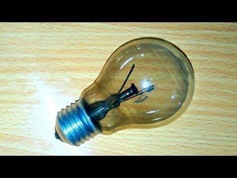 عندك لمبه محروقه بايظه اوعي ترميها تعالي اقولك تعملي بيها ايه فكره جااامده اعاده تدوير Recycling Youtube Light Bulb Tutorial Home Decor