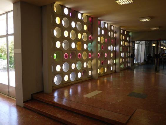 Cantina Velha, University of Lisbon. Architects: Manuel Norberto Correa and F. Rafael Miranda. Artists: Domingos Soares Branco, Jorge Vieira, Manuel Ramos Chaves, Rolando Sá Nogueira, Teresa de Sousa, Vasco da Conceição