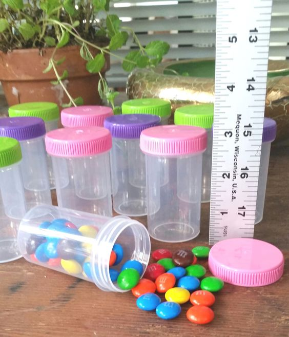 12 Plastic JARS 2oz Party Candy Pill Bottles Doc McStuffins RX #4314 DecoJars in Home & Garden | eBay