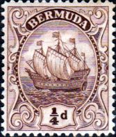 Bermuda 1910 King George V Galleon SG 44a Fine Mint SG 44a Scott 40 Other Bermuda n Stamps Here