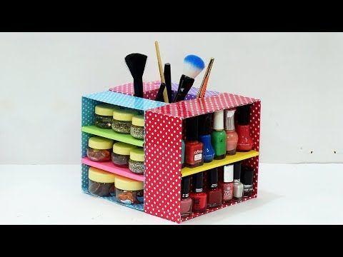 Diy Multipurpose Makeup Box Organiser From Waste Cardboard Boxes