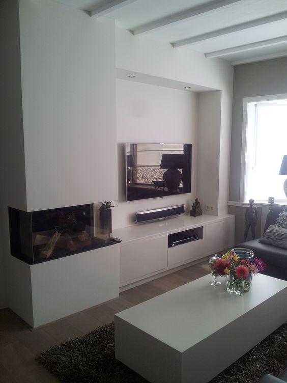 prachtige tv kast inclusief gashaard en salontafel op maat gemaakt verkrijgbaar bij www. Black Bedroom Furniture Sets. Home Design Ideas