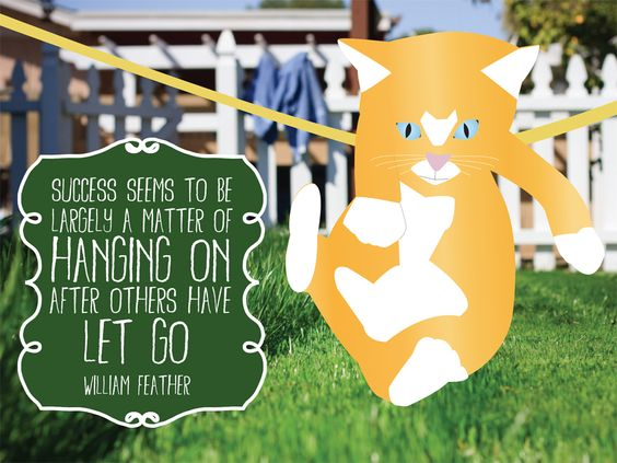 """""""Success seems to be largely a matter of hanging on after others have let go."""" – William Feather #quote #persistence http://marketingtrw.com/blog/success-seems-to-be-largely-a-matter-of-hanging-on-after-others-have-let-go-william-feather-quote-art/"""
