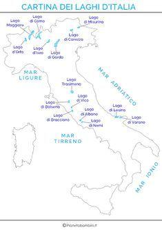 Cartina Italia Completa.Pin Su Geografia