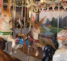 Glen Echo carousel rabbits
