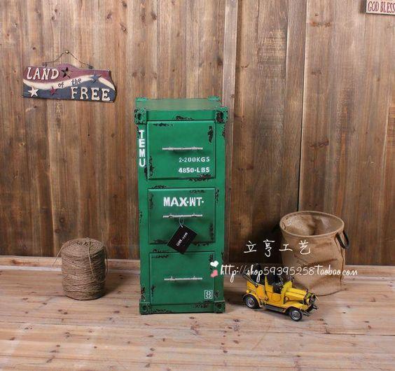 [Boek] loft opslag container 3 lades retro naar de oude entree display kast afwerking kast hoekkast(China (Mainland))