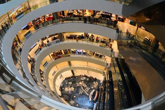 Bên trong của Trung tâm mua sắm Shinsegae Centum City