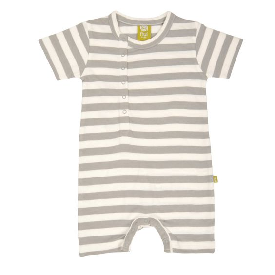 Romper - Grey Stripe – Organic and Eco Friendly Clothing | www.bunnyandbird.com