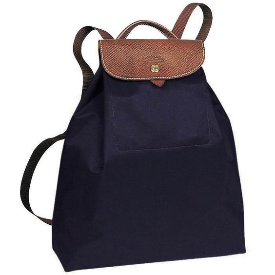 Longchamp backback. Yay French bags! I have this in light blue and I love it.