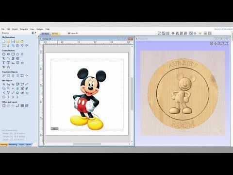 How To Turn A 2d Picture Into A 3d Model For A Cnc Machine Basic 3d Modeling On Vectric Aspire Youtube In 2020 With Images Cnc Machine