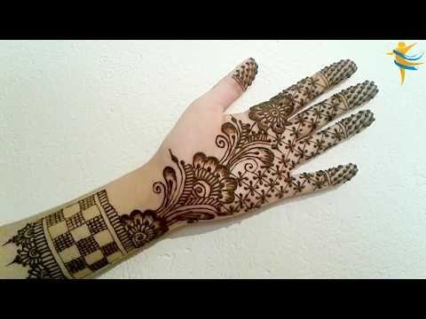 النقش الهندي رسمة بسيطة و مبتكرة للعرائس و المناسبات الخاصة Youtube Henna Hand Tattoo Hand Henna Simple Mehndi Designs