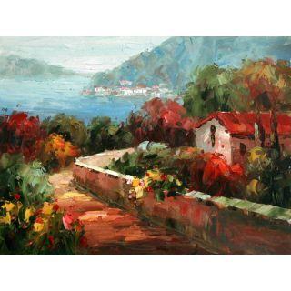 Real Handmade Mediterranean Sea Oil painting