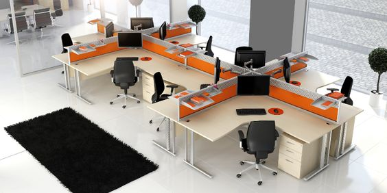 Open plan office desks google search lifeline shop for Modern office plan