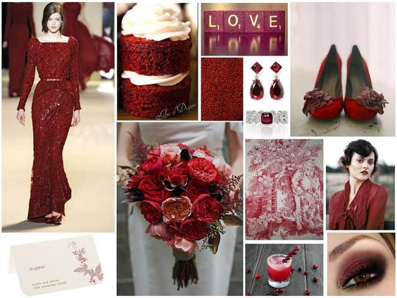 Inspiration For A Cranberry Red Wedding