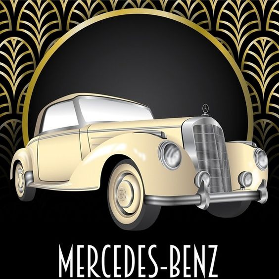 Deco-style Mercedes-Benz artwork. See all the ways they combined the motifs of the era with some of our most iconic models on our Facebook page. Mercedes Benz Art