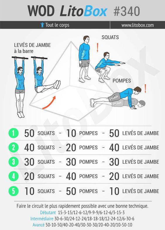 Entraînement pyramidal complet au poids du corps, réalisable en moins de 25 minutes.  + Pensez à partager ce WOD ou à tagger vos amis pour les motiver à s'entraîner et les challenger.  Bon courage et bonne semaine  !  Pierre.