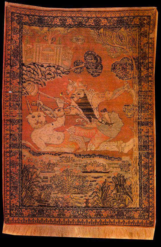 Persian pictorial rug