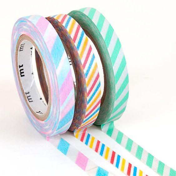 3 pattern Japan MT slim masking tape sample  50 by ZakkaLuLuZone
