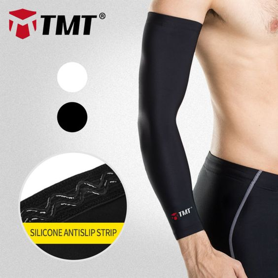 TMT Sun muscle Protection basketball Cycling arm sleeve Arm Warmers Protector Pads Support Outdoor Sport manguito ciclismo brazo