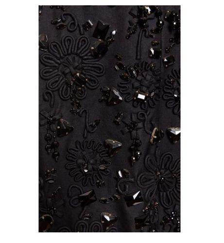 Rochas-Runway-Black-Stone-Embroidered-Mikado-Coat-RRP-30-800-BNWT-42-8