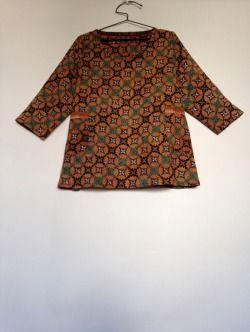 number 92 materials: cotton batik and cotton print pattern: dress no. 2