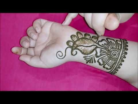 simple mehndi designs for front hands images