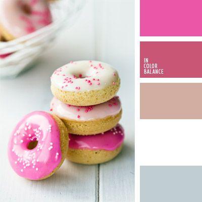 celeste grisáceo, color alcorza rosada, color de la bollería, color gris azulado, gris y blanco, paleta de colores para decorar una boda, paleta de colores para una boda, rosa pastel, rosado, rosado vivo, selección de colores para decorar una boda, tonos rosados.
