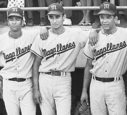 El equipo venezolano Navegantes del Magallanes campeon de la Serie del Caribe 1970. En la grafica, Damaso Blanco, Jesus Aristimuño y Gustavo Gil. (ARCHIVO EL NACIONAL):