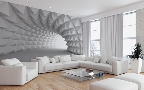 Creative Ways To Use 3d Wallpaper For Home Walls Which 3d Effect Wallpaper Design To Use For Living Ro Home Wallpaper Wallpaper Living Room Living Room Modern