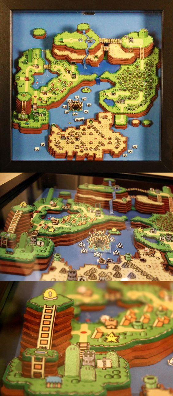 Explore every inch of the Mushroom Kingdom with a Super Mario World map that has been perfectly recreated from papercraft