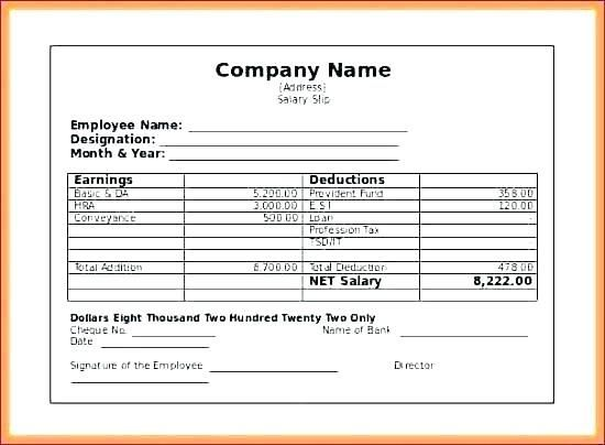 28 Payroll Template Excel Payroll Template Statement Template